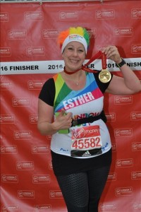 Esther London Marathon Finishers Photo 2016