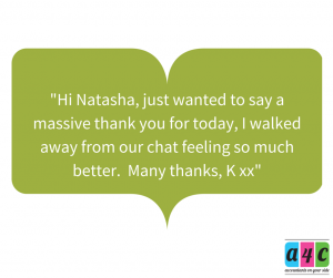 Hi Natasha, Just wanted to say a big thank you