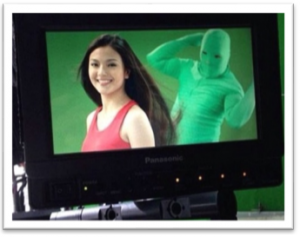 green screen fluffer